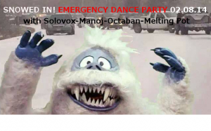 Solovox 'Emergency Dance Party' saves a Snowed In Portland!